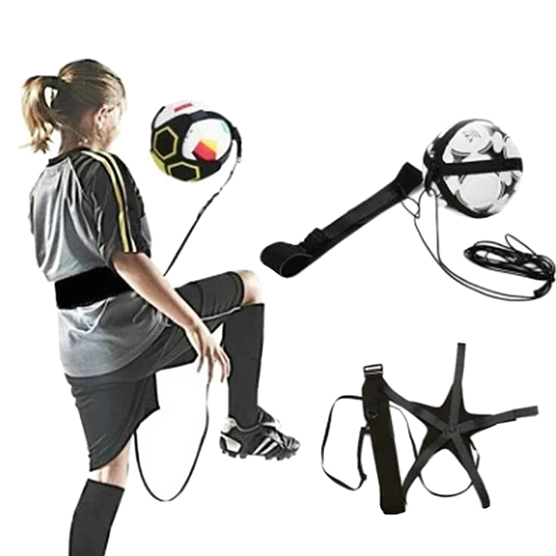 Football Kicks Trainer Home Fitness Soccer Ball Juggling Football Juggle Training Juggler Belts