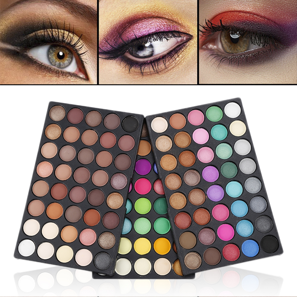 Paleta de sombra de ojos, 120 colores, maquillaje, Pro Waterptoof, antisudor, larga duración, gran oferta|Sombra de ojos| - AliExpress