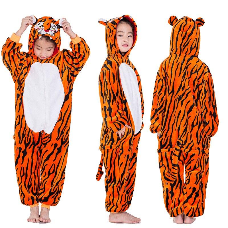 Children Stitch Kigurumi Pajama Kid Boy Girl Anime Overall Tiger Unicorn Pijama Onesie Onepiece Baby Animal Sleepwear Cosplay