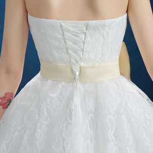 Image 4 - Popodion vestido de noiva sem alças, de princesa, roupa de noiva para casamento, taman90540