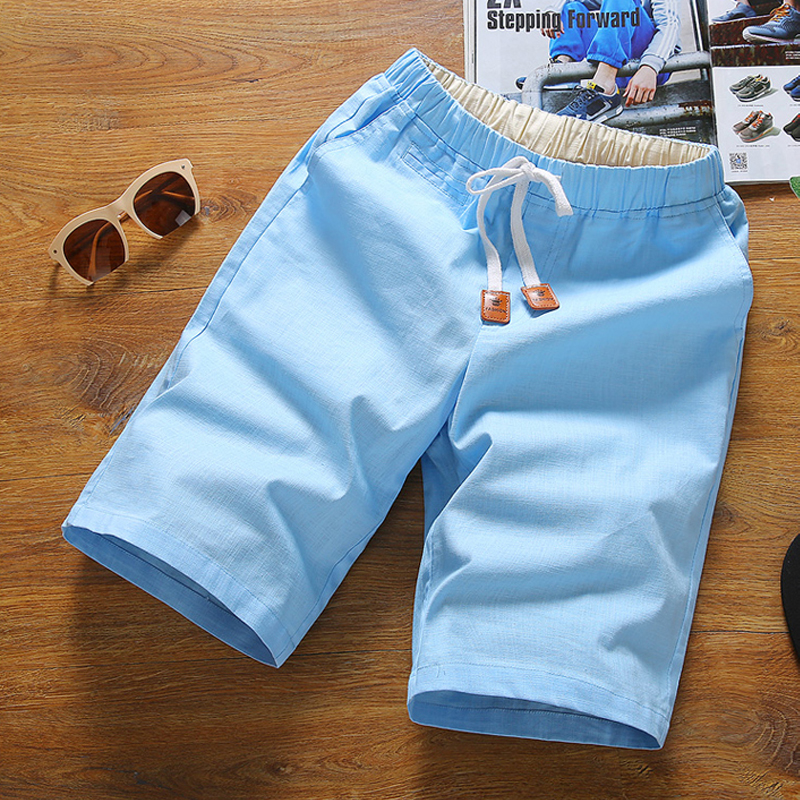 Summer Casual Shorts Men , Elastic Waist Summer Young Mens Shorts , Casual Home Travel Essential Shorts , Thin Men's Shorts