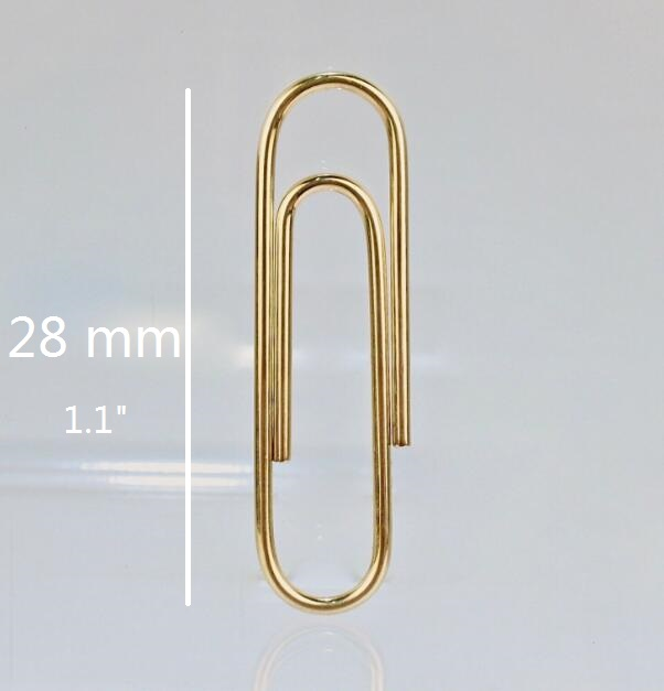 28mm Dark Golden Clips Pin Plain Metal Steel Paper Clip For Weddding Office Stationery 20/100/500/800pcs You Choose Quantity