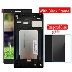 Com moldura lenovo tab 3 730 tab3, tab3, 730m, Tab3-730, Tab3-730m, TB3-730, TB3-730X, TB3-730M, touch screen, digitalizador, display lcd, montagem