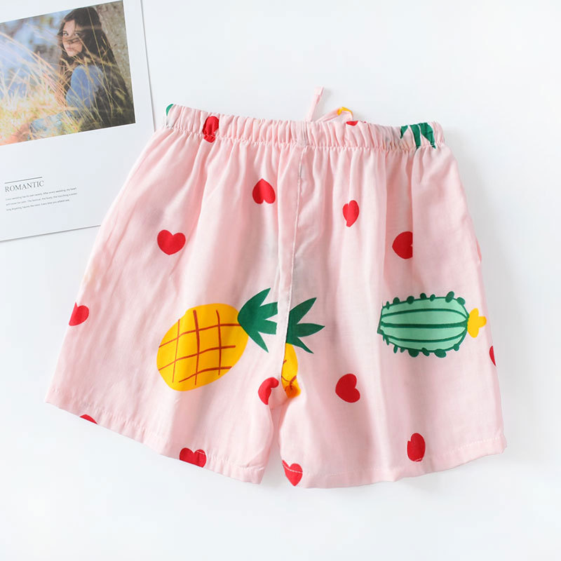 New Style Japanese-style Pajamas Female Summer Shorts Pure Cotton Gauze Cotton Thin Loose And Plus-sized Home Pants Household Ou