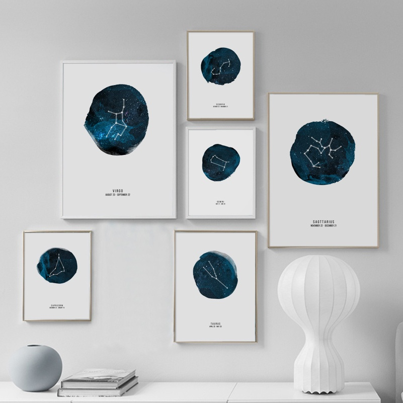 Astrology Constellation Star Nordic Posters And Prints Wall Art Print Canvas Painting Wall Pictures For Living Room Home Decor
