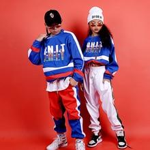 Детские костюмы для джазовых танцев; уличная спортивная Одежда для танцев в стиле хип-хоп; Одежда для мальчиков и девочек; одежда для бальных танцев; одежда для сцены; DQS3162