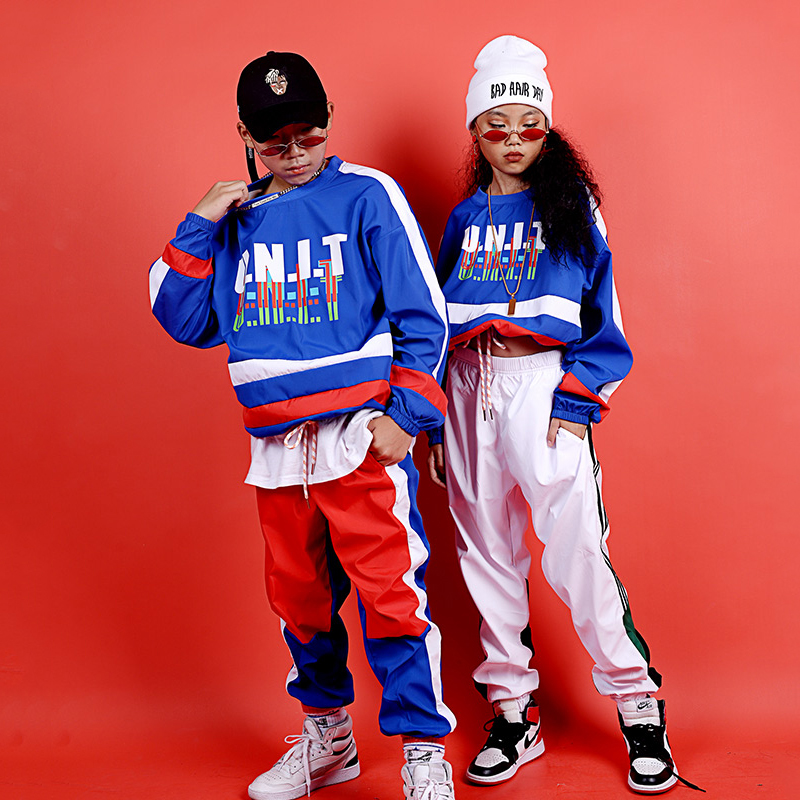Children Jazz Dance Costumes Street Dance Sports Hip Hop Clothing For Boys Girls Ballroom Dance Performance Stage Wear DQS3162