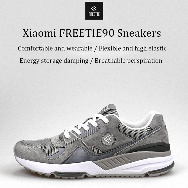 Xiaomi FREETIE Shoes Retro Sports Shoes Comfortable Wearable Breathable Run Sneakers High Elasticity Net Surface For Men