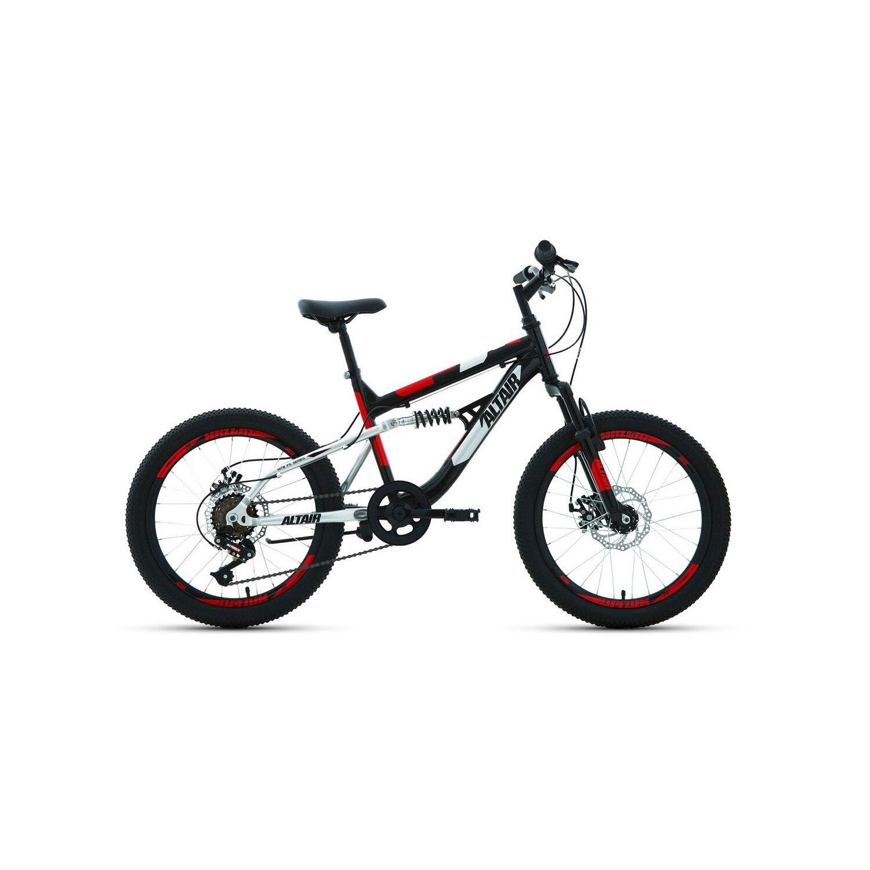 Подростковый велосипед ALTAIR MTB FS 20 20.0 (2020) , цвет черный/красный