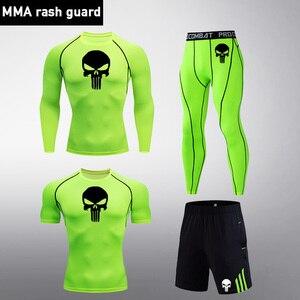 Мужской спортивный костюм для бега, 4 шт./компл., компрессионная быстросохнущая спортивная одежда