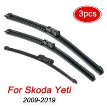 Набор лезвий стеклоочистителя MIDOON для Skoda Yeti 2009-2019, лобовое стекло, переднее и заднее стекло, 24