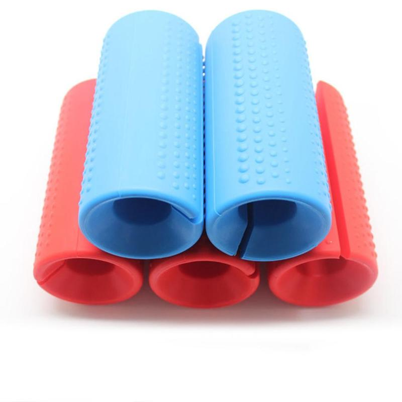 1Pcs Thick Fat Barbell Silicone Grips Pull Up Weightlifting Equipment Protect Body Building Fitness Support Pad Anti-Slip