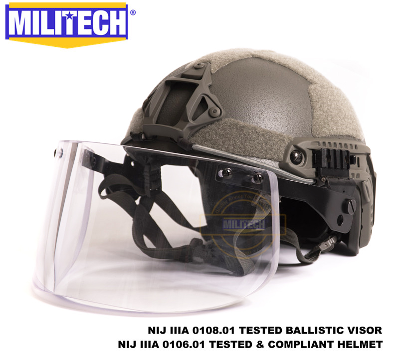 MILITECH Foliage Green FG OCC Liner Set NIJ IIIA FAST Bulletproof Helmet and Visor Set Deal Ballistic Helmet Bullet Proof Mask