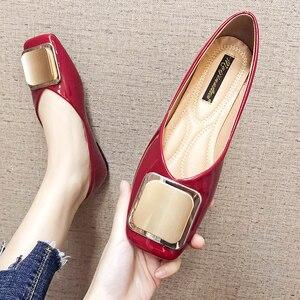 Женская обувь на плоской подошве; Цвет винно-красный; Лоферы без шнуровки; Однотонные туфли из искусственной кожи на плоской подошве с квадр...