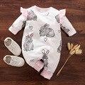 Комбинезон для новорожденных девочек, 100% хлопок, костюмы для маленьких девочек, милый женский комбинезон с длинным рукавом, одежда для малы...