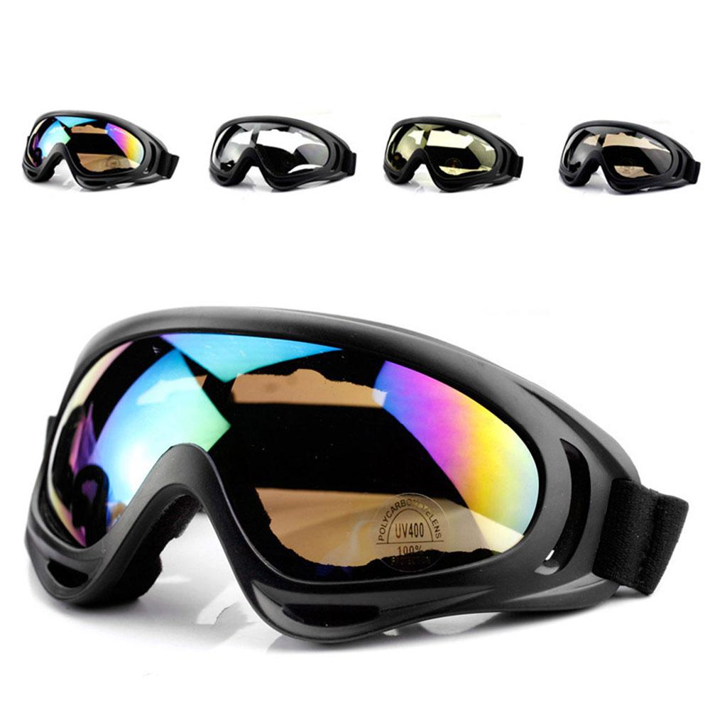 Outdoor 18*8CM Snowboard Goggles Ski Cycling Eyewear 4 Color Professional ABS Anti-UV Eye Glasses NEW Sports Dustproof