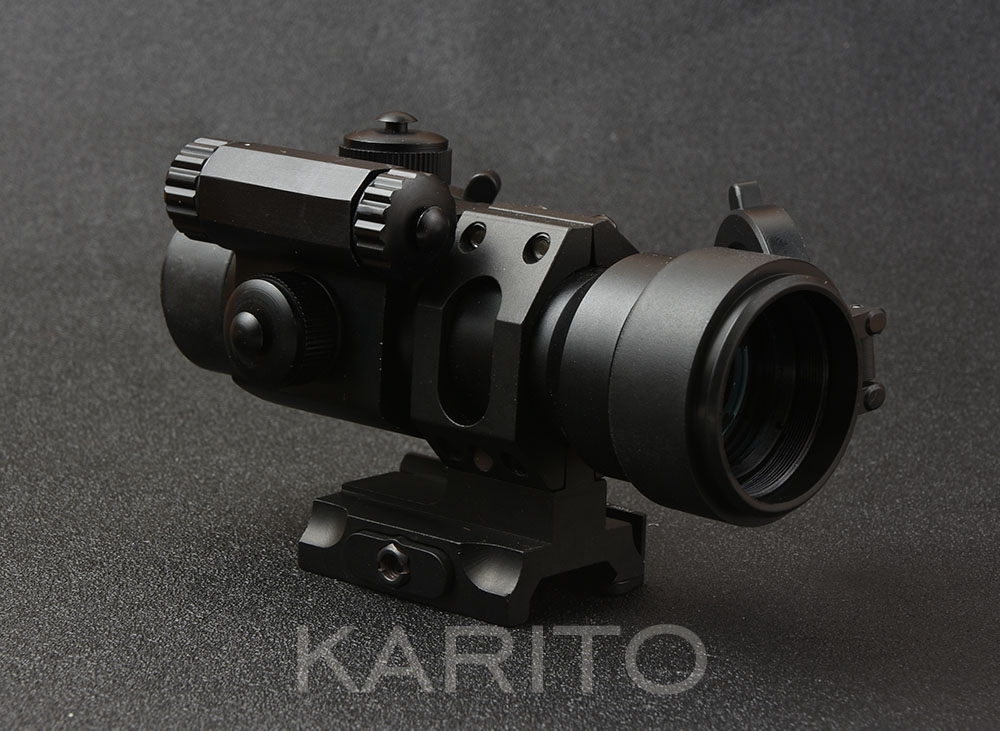 Tactical holographic ar 15 ak 47 74 M2 1x 32 red dot sight scope with 20 mm picatinny rail qd mount base image