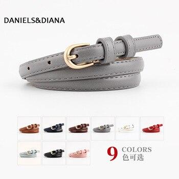 Belt dress simple versatile Fashion Women Leather Belt Thin Skinny Metal Gold Elastic Buckle Waistband Belt Dress Accessories цена 2017