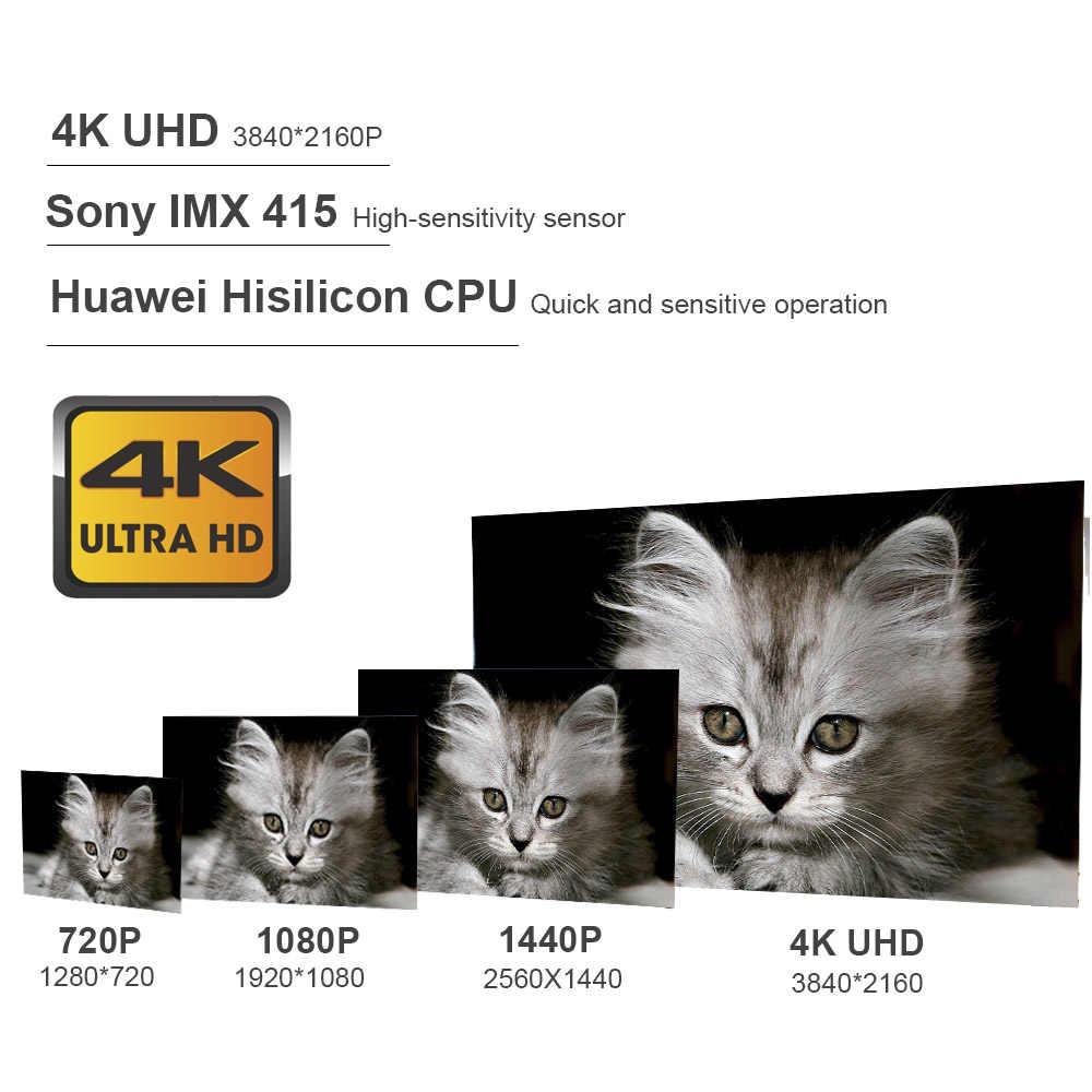 Hgdo 12 ''4K Mobil DVR Kamera Sony IMX415 Belakang Cermin FHD 1080P Kamera Dash Cam pencatat Perekam Video Monitor Parkir