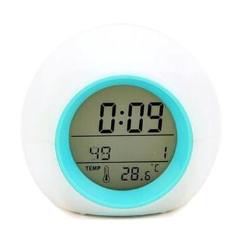 Wystrój kreatywny okrągły budzik kalendarz łóżko piłka dzieci budzik naturalny dźwięk akcesoria do dekoracji wnętrz tanie i dobre opinie circular 8 8mm 150g Budziki Luminova Cyfrowy Z tworzywa sztucznego 8 5mm alarm clock