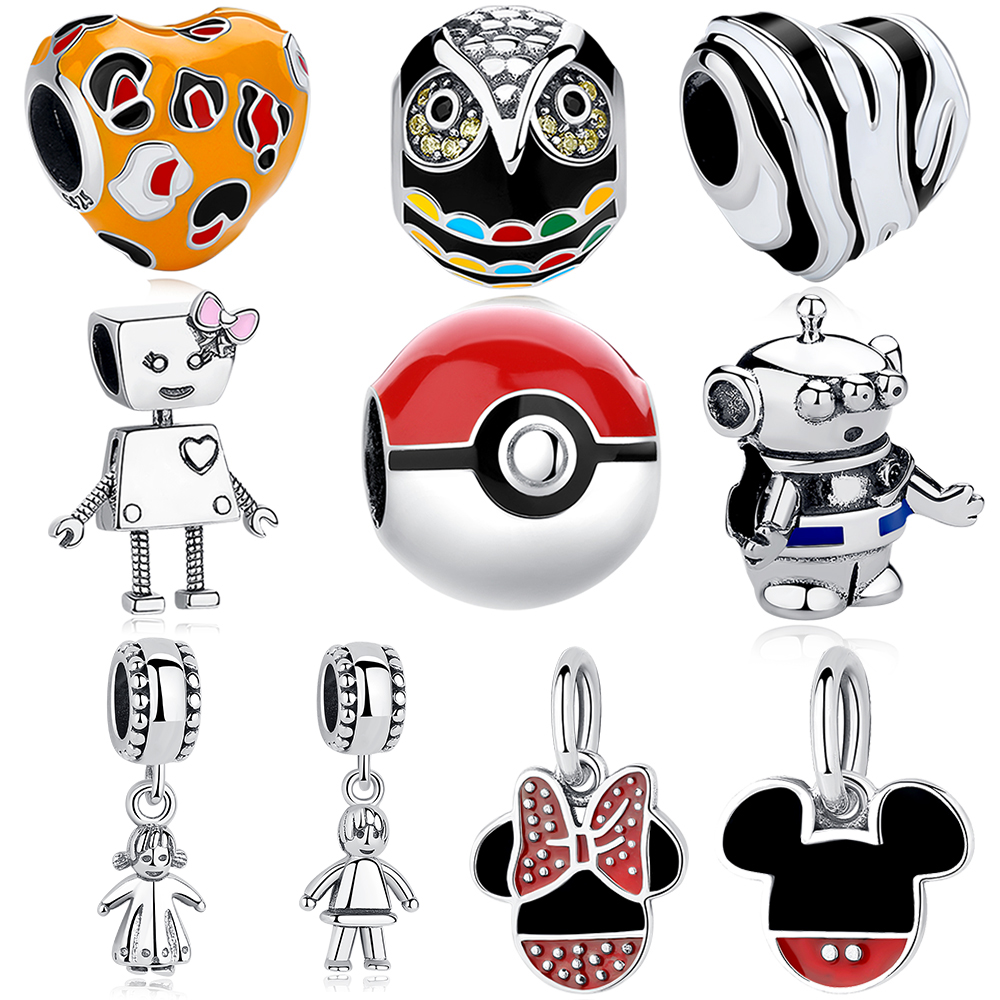 Beautiful Handmade Silver Pokeball Pokemon  Enamel Charm Earrings UK seller