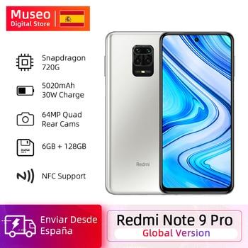 Купить Глобальная версия смартфона Xiaomi Redmi Note 9 Pro 6 ГБ 64 Гб Snapdragon 720G 64MP AI Quad Camera Note 9 Pro 5020 мАч 30 Вт QC