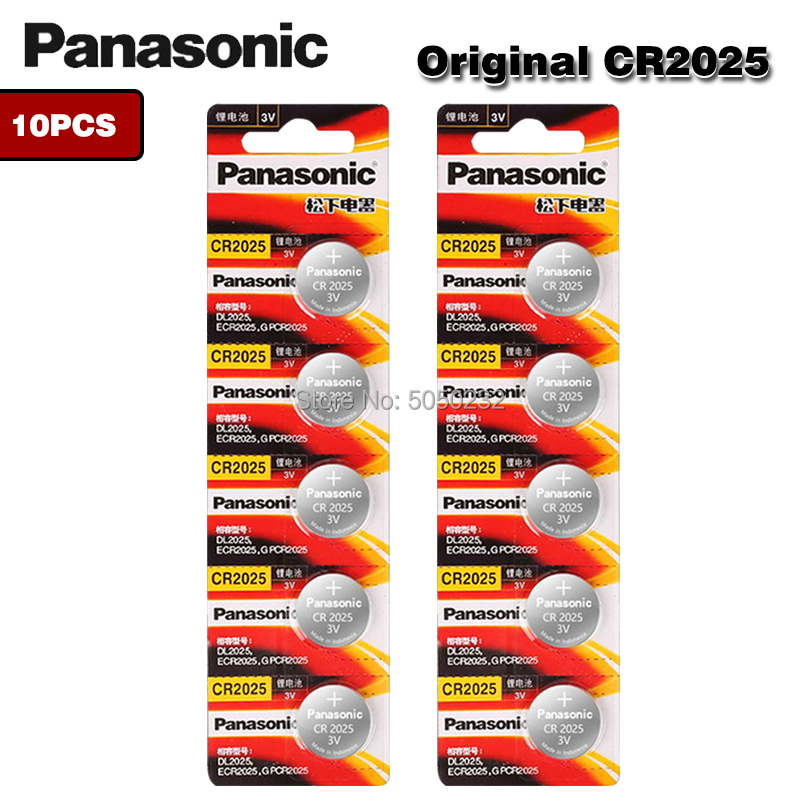 PANASONIC 10pc original Lithium Button Cell <font><b>Battery</b></font> <font><b>CR2025</b></font> Watches 3V Control Toy <font><b>Batteries</b></font> For LED Lights Toys Watches image