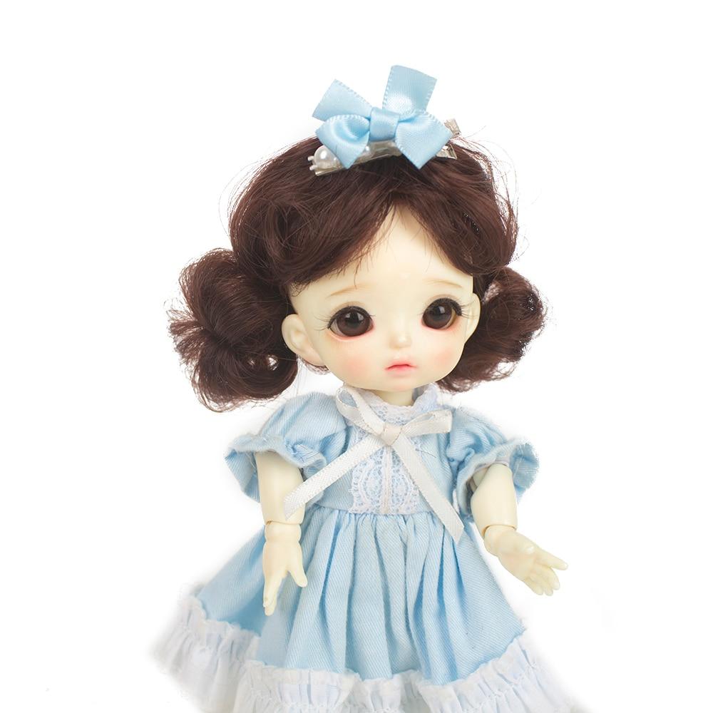 Muzwig High Quality LSGZ-1154-8 1/8 Dolls mohair/soft fiber Hair Heat Resistant Fiber Brown Khaki Pink Bob Wigs Only