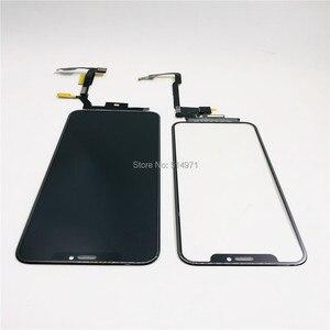 Image 2 - 5 יח\חבילה מגע מסך Digitizer זכוכית עדשת פנל עבור iPhone X XSmax LCD מסך חיצוני סדוק זכוכית החלפת לא צריך הלחמה