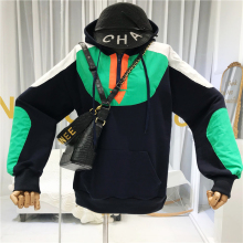 2019 Fall Designer Korean Hoodie Women Sweatshirt Patchwork Japanese Style Fashion Woman Clothes New Items