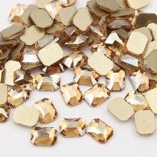 Strass octogonal pour Nail Art, 6x8mm, pierres de cristal à dos plat bricolage décorations DIY, manucure, diamant, décoration pour Nail art