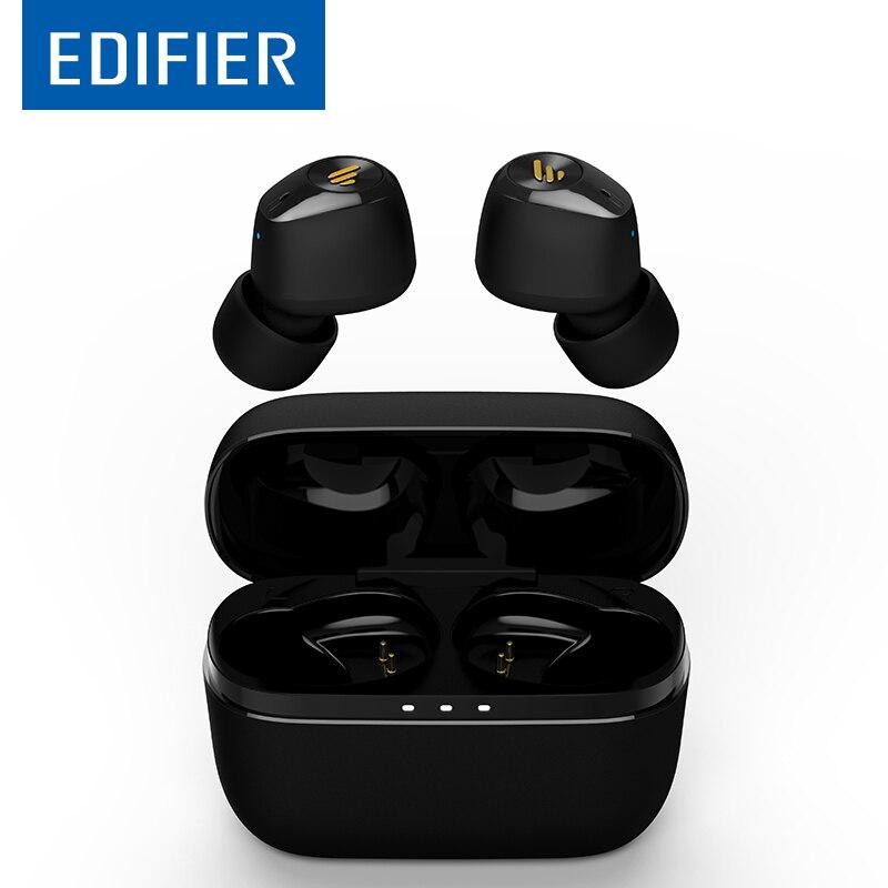 Edifier tws2 tws fones de ouvido sem fio bluetooth 5.0 hd fones de ouvido estéreo independente usando redução de ruído fone de ouvido esporte