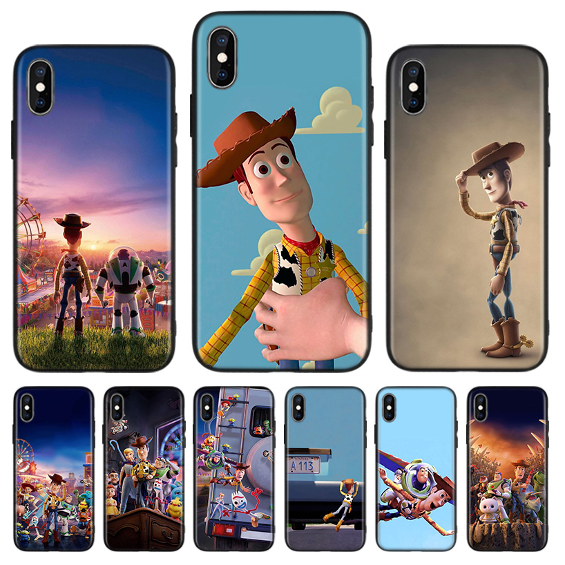 <font><b>Toy</b></font> <font><b>Story</b></font> Black Back Cover Phone Case For Apple <font><b>IPhone</b></font> 11 Pro XS MAX <font><b>XR</b></font> 7 8 6 6S Plus X 10 Ten 5 5S SE <font><b>Coque</b></font> Shell image