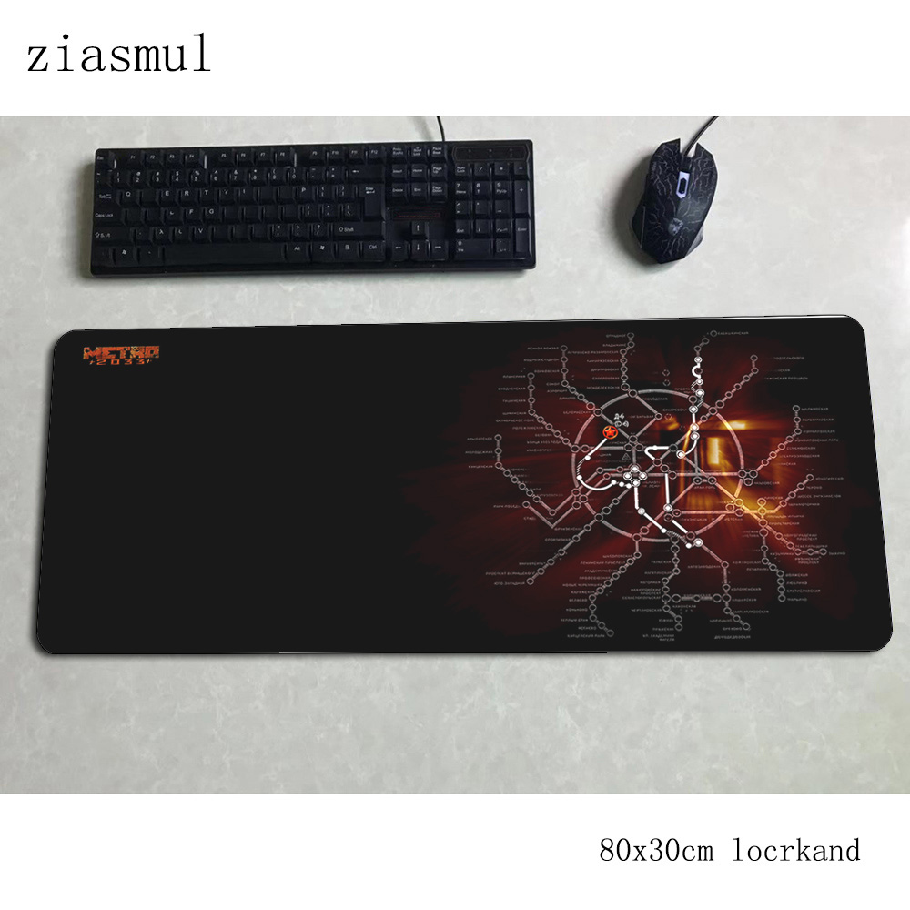 Metro 2033 Padmouse 80x30cm Gaming Mousepad Game High-end Mouse Pad Gamer Computer Desk Locrkand Mat Notbook Mousemat Pc