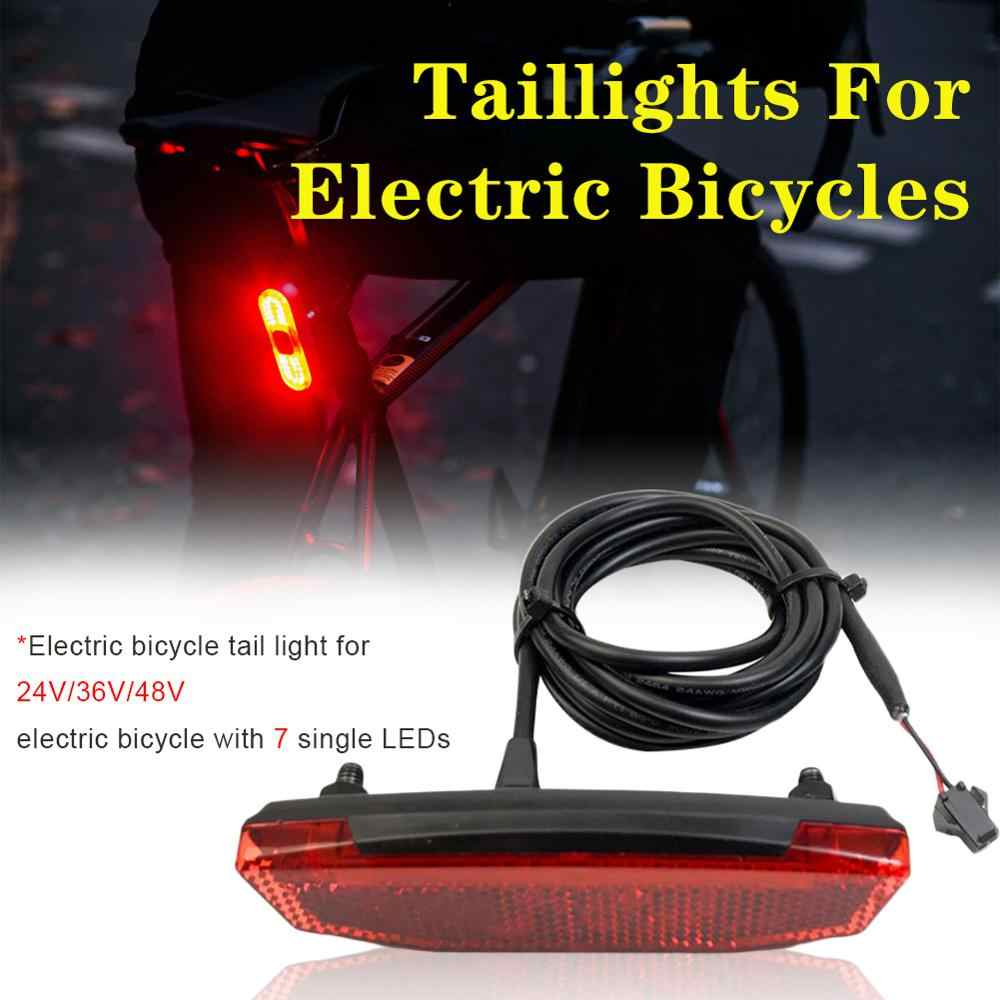 Ebike Electric Scooter Rear Light//Tail Light LED Night Safety Warning Rear Lamp