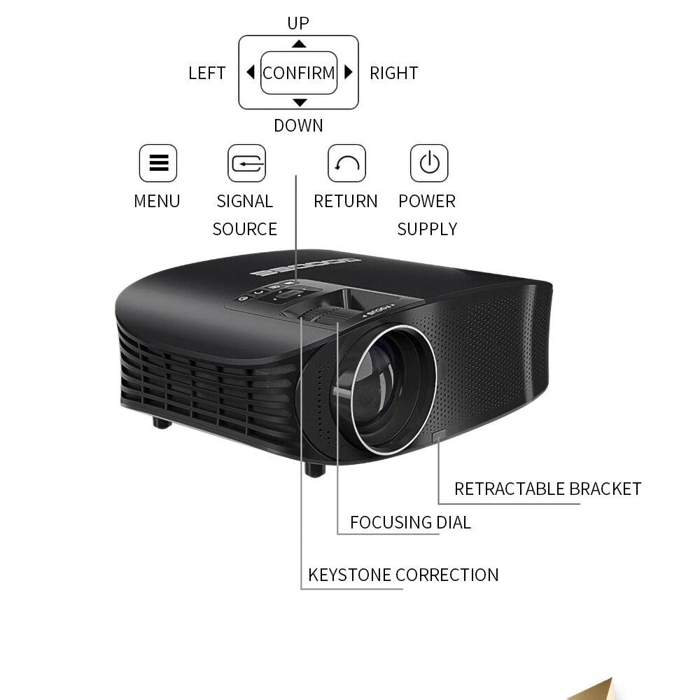 Image 4 - LEJIADA YG600 HD Projector LCD Beamer Support Full HD 1080P YG610 Home Theatre HDMI VGA USB Video Portable LED Projector    -
