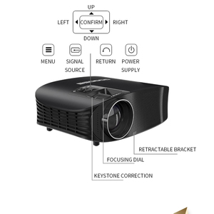 Image 4 - LEJIADA YG600 HD Projector LCD Beamer Support Full HD 1080P YG610 Home Theatre HDMI VGA USB Video Portable LED Projector