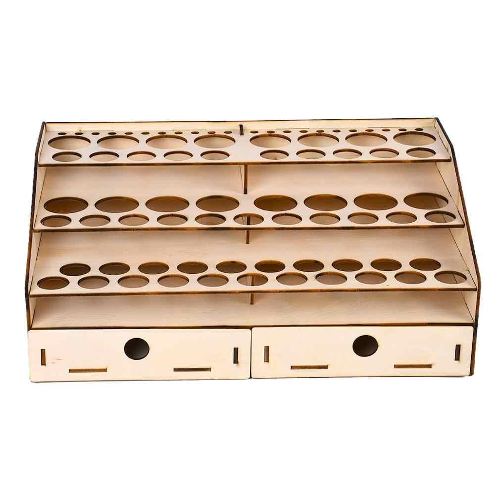 Tongina Vintage Wooden Paints Rack Modular Stand Model Hobby Tools Storage Rack #124