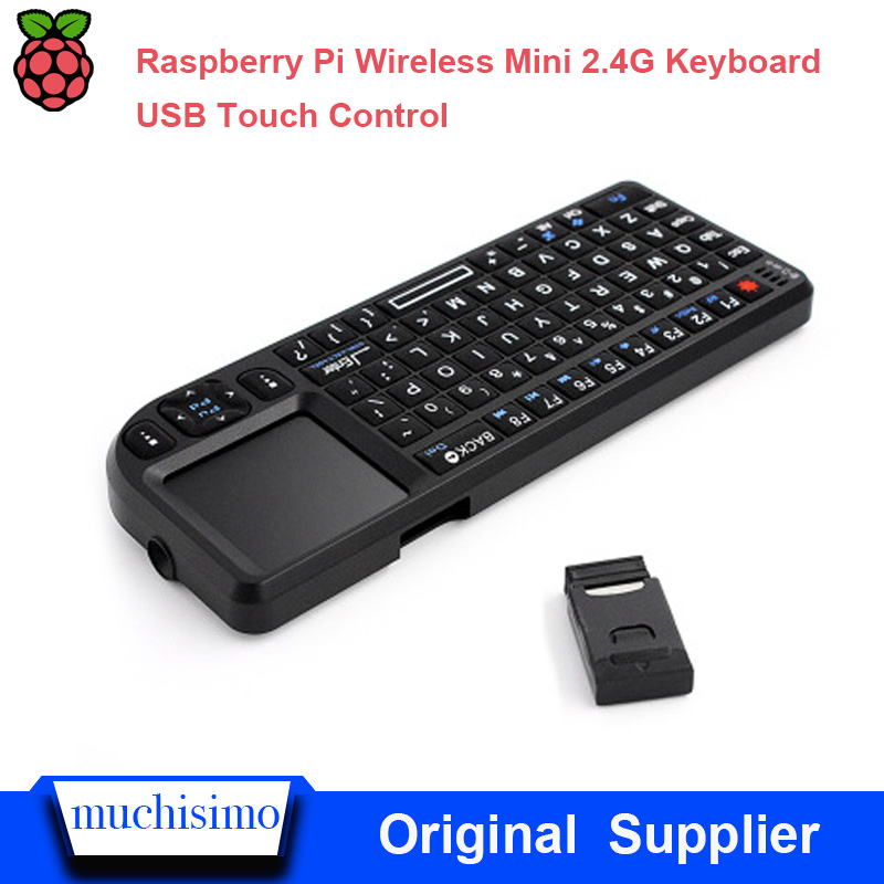 Raspberry Pi 2/3 2.4G Wireless Keyboard Soft Silicone Key Touch Mouse All-in-one Intelligent TV Set-top Box