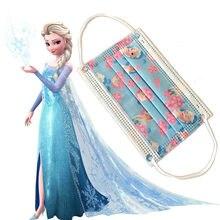 Disney congelado elsa 10 pces crianças máscara protetora descartável rosto tecido filtro respirável dustproof minnie padrões máscara facial