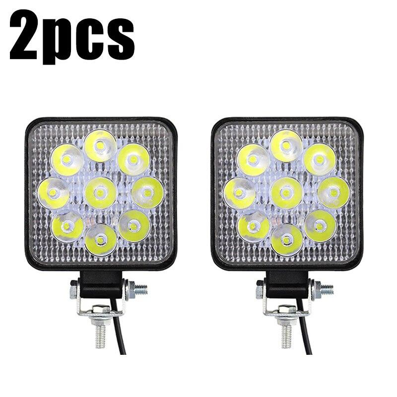 For Road Off-Road Vehicles Driving Boat Truck 2pcs MINI 27W LED Car Working Light Bar Fog Lamp IP67 6000K LED Working Light
