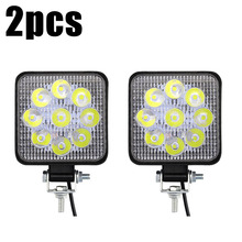For Road Off-Road Vehicles Driving Boat Truck 2pcs MINI 27W LED Car Working Light Bar Fog Lamp IP67 6000K