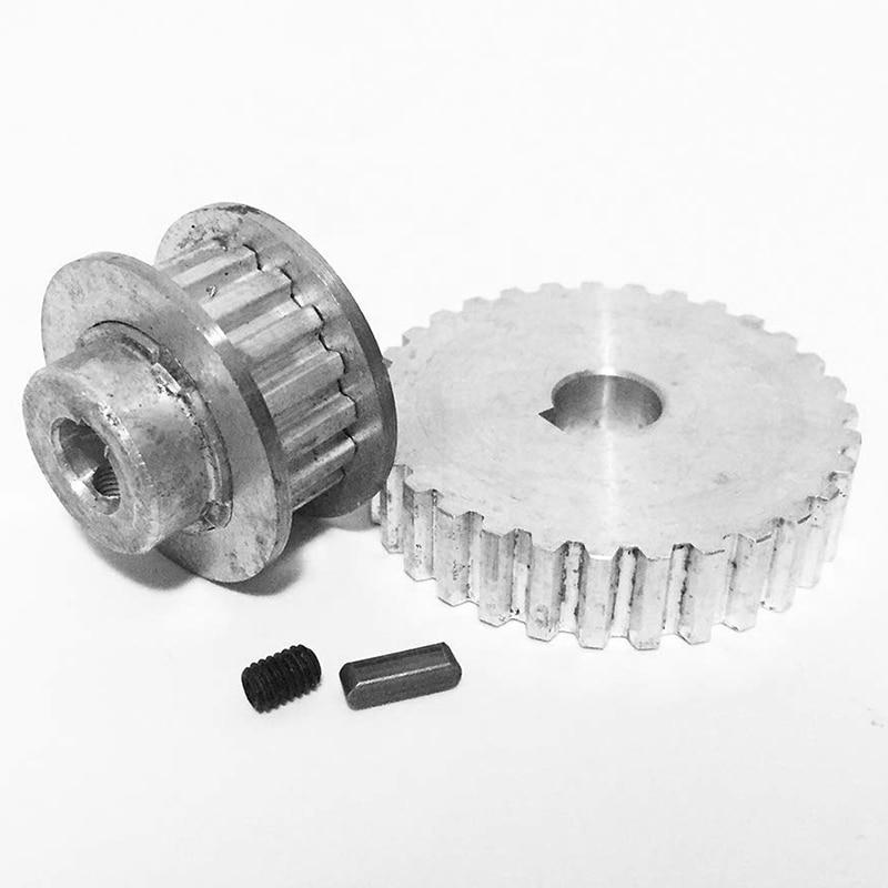 ABSF 2Pcs Metall Synchron Pulley Getriebe Motor Gürtel Getriebe Stick Rad Getriebe S/N Cj0618 Mini Drehmaschine Getriebe, metall Schneiden Maschine Gea