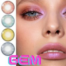 2pcs(1Pair) Colored Contact Lenses Eye GEM Seriers Yearly Contact Lenses Color Natural Looking Contact Lens for Eyes Bio essence