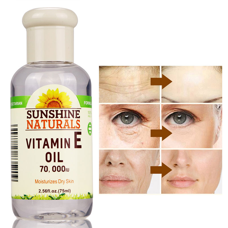 Vitamin E Oil 70000IU Skin Care Face Lift Essence Tender Anti-Aging Serum Wrinkle Removal Face Cream Hyaluronic Acid
