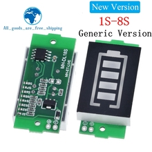 1S 2S 3S 4S Single 3.7V Lithium Battery Capacity Indicator Module 4.2V Blue Display Electric Vehicle Battery Power Tester Li ion