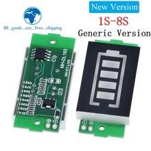 1s 2s 3s 4S único 3.7v módulo indicador de capacidade da bateria de lítio 4.2v display azul testador de energia da bateria do veículo elétrico li ion