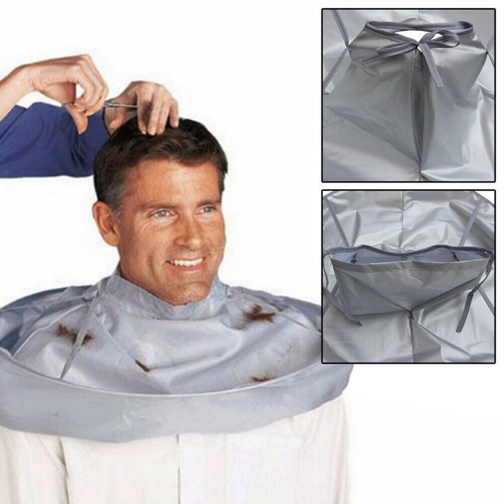 Waterproof Adult Foldable Hair Cutting Cloak Umbrella Cape Home Salon Barber Adult Medium Haircut Cape Cloak Grey