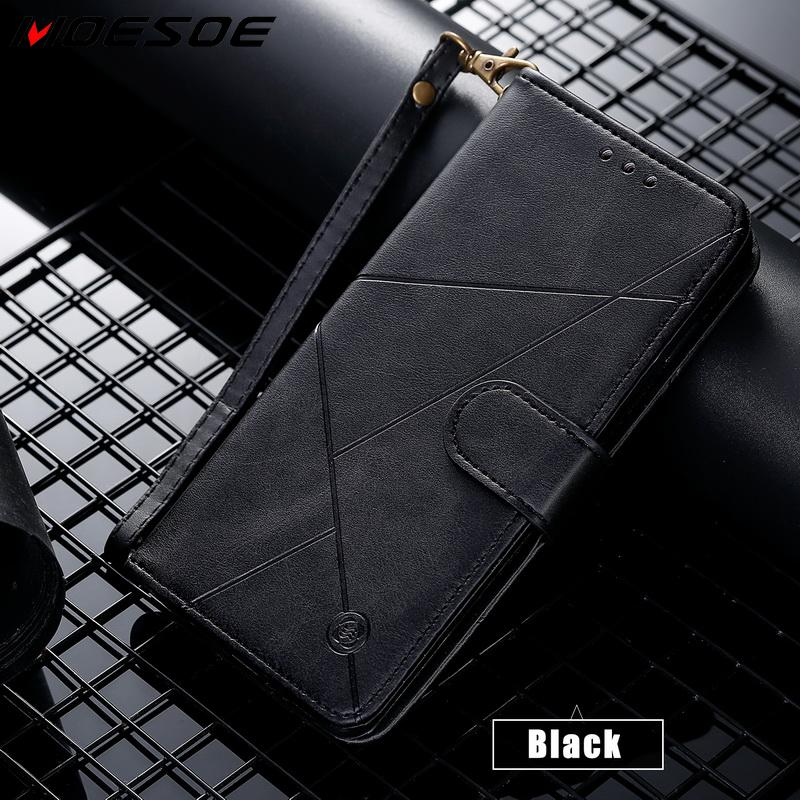 Vintage Geometric Flip Wallet Case For iPhone 11 Pro Max XS XR X 10 6 6s 7 8 Plus Phone Case Luxury Leather Card Holder Cover image