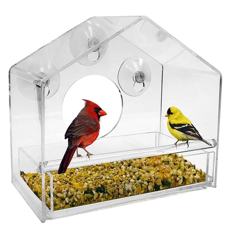 feeder mounted on window